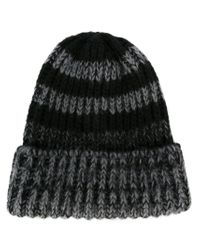 Paul Smith - Black Striped Beanie for Men - Lyst