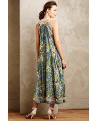 Zimmermann - Green Aoraki Silk Midi Dress - Lyst