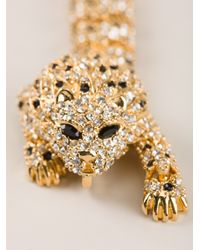 Saint Laurent - Metallic Lion Bracelet for Men - Lyst