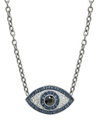 Lord & Taylor | Blue Sterling Silver And Crystal Evil Eye Necklace | Lyst