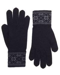 Brooks Brothers - Blue Herringbone And Fair Isle Gloves for Men - Lyst