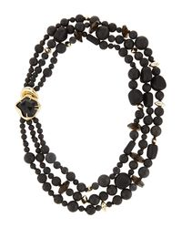 Alexis Bittar | Miss Havisham Three-Strand Black Onyx Necklace | Lyst