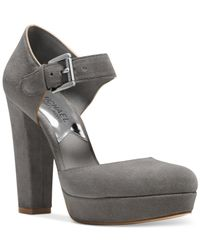Michael Kors | Gray Michael Dress Flynn Platform Pumps | Lyst