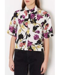 TOPSHOP | Multicolor Multi Flower Shirt | Lyst