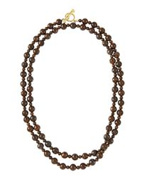 Elizabeth Showers - Metallic Beaded Bronzite Necklace - Lyst