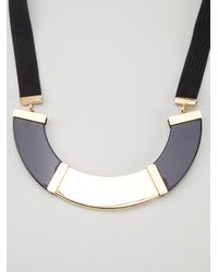 Marni | Black Contrasting Panel Necklace | Lyst