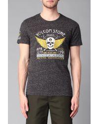 Volcom - Gray T-shirt for Men - Lyst