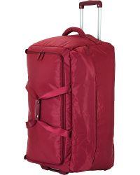 Lipault - Red Foldable Wheeled Duffel Bag 75cm for Men - Lyst
