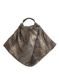 Nada Sawaya | Gigli - Oversized Python Hobo Bag - Dark Brown | Lyst