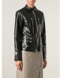 Ermanno Scervino - Black Zip Detail Biker Jacket - Lyst