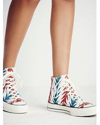 Free People | Red Archive Print Hi Tops | Lyst