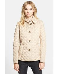 Lyst - Burberry brit 'copford' Quilted Jacket in Natural : copford quilted jacket - Adamdwight.com