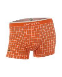 Lacoste - Orange Check Trunk for Men - Lyst