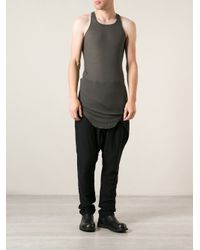 Rick Owens - Gray Long Tank Top for Men - Lyst