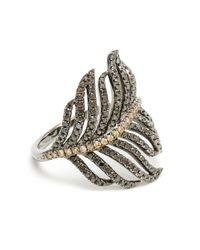 Rosa De La Cruz   Black Diamond Feather Ring   Lyst