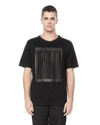 Alexander Wang - Black Barcode Logo Welded Tee for Men - Lyst