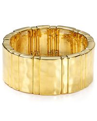 Ralph Lauren | Metallic Lauren Stretch Cuff | Lyst