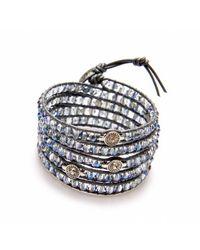 Nakamol | Multicolor Brilliant Wrap Bracelet-Light Montana Crystal | Lyst