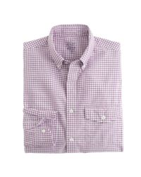 J.Crew | Purple Slim Lightweight Oxford Shirt In Summertime Gingham for Men | Lyst