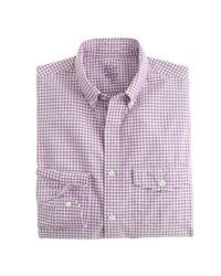 J.Crew | Purple Slim Lightweight Oxford Shirt In Summertime Gingham for Men | Lyst