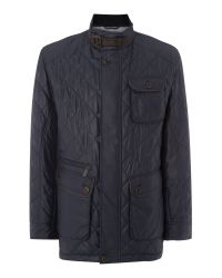Bugatti | Blue Techno Quilted Coat for Men | Lyst