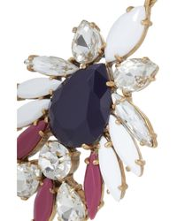 J.Crew - Blue Persian Leaves Goldtone Crystal Earrings - Lyst