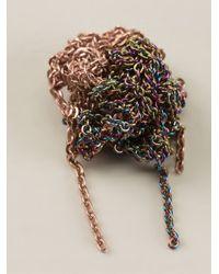 Arielle De Pinto | Metallic Crochet Chain Earrings | Lyst