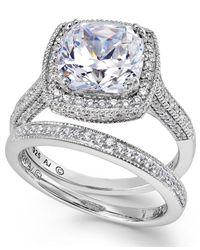 Arabella | Metallic Swarovski Zirconia Bridal Ring And Band Set (7-5/8 Ct. T.w.) | Lyst
