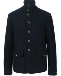 Dolce & Gabbana - Blue Military Jacket for Men - Lyst