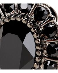 Givenchy - Black Embellished Clip-on Earrings - Lyst