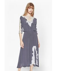 French Connection | Gray Isla Embroidered Maxi Dress | Lyst