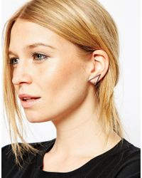 ASOS | Metallic Limited Edition Open Triangle Ear Wire | Lyst