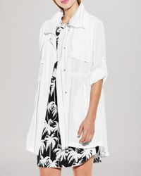 Vince Camuto | White Hooded Anorak | Lyst