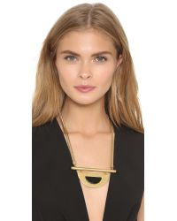 Madewell | Metallic Half Plane Necklace - Vintage Gold | Lyst