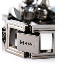 Mawi | Metallic Studded Crystal Bracelet | Lyst