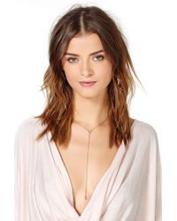 Nasty Gal | Metallic Rupal Lariat Necklace | Lyst
