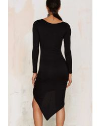 Nasty Gal | Black Gather At Last Jersey Dress | Lyst