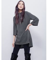 Free People | Green Womens Edie Stripe Tunic | Lyst