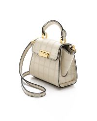 Zac Zac Posen | Quilted Embossed Eartha Mini Top Handle Bag - White | Lyst