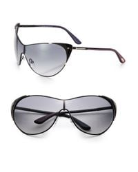 Tom Ford | Black Vanda 59Mm Modified Shield Sunglasses | Lyst