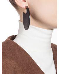 Marni - Black Runway Hoop Earrings In Resin - Lyst