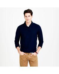 J.Crew - Blue Twill Knit Shawl Collar Pullover for Men - Lyst