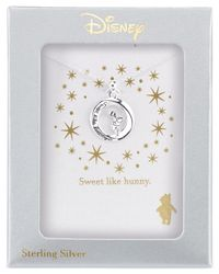 Disney | Metallic Pooh Engraved Pendant Necklace In Sterling Silver | Lyst