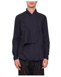 Uma Wang - Blue Dante Cotton Shirt for Men - Lyst