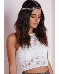 Missguided | Metallic Disk Layered Headpiece Silver | Lyst