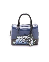 Furla | Dark Blue Croc Embossed Leather Giselle Tote | Lyst