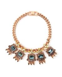 Mawi | Metallic Geometric Crystal Necklace | Lyst