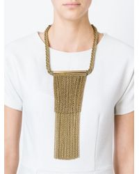 Lanvin | Metallic Hanging Chain Strand Necklace | Lyst