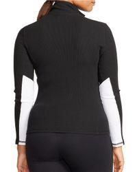 Lauren by Ralph Lauren | Black Plus Waffle-knit Mockneck Pullover | Lyst