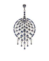 Bochic - Blue Sapphire and Diamond Peacock Pendant - Lyst